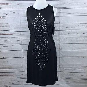 dbaab30311cf Karen Kane Faux Leather Sheath Dress Black Size XL